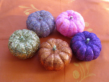 First Grade Seasons Activities: Decorate with Glittery Mini Pumpkins