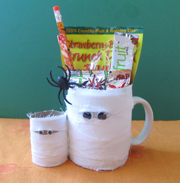 First Grade Holidays & Seasons Activities: Make Mummy Mug Party Favors