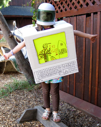 First Grade Holidays Activities: Make Your Own Computer Costume!