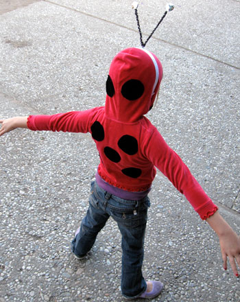 Preschool Holidays Activities: Homemade Ladybug Costume