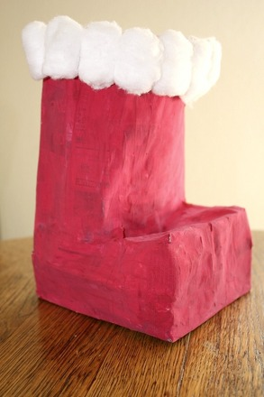 Third Grade Holidays & Seasons Activities: Papier-Mâché Santa Boot