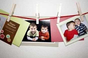 Kindergarten Holidays & Seasons Activities: String a Holiday Card Clothesline