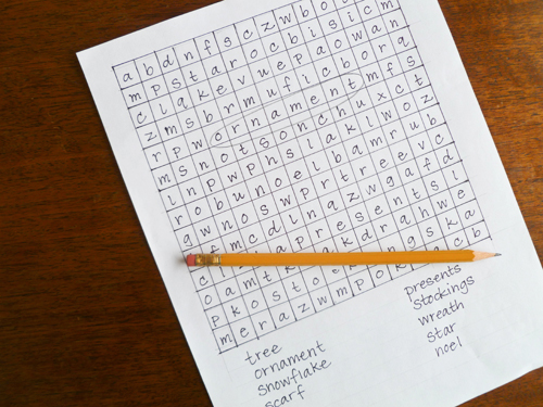 Middle School Holidays & Seasons Activities: Create a Holiday Word Find