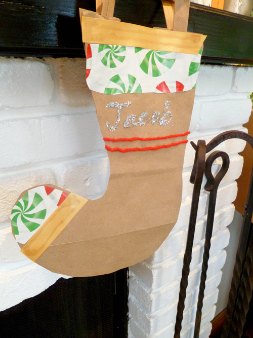 Fourth Grade Holidays & Seasons Activities: Recycle Paper Bags into Christmas Stockings