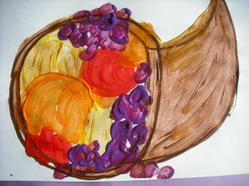 Kindergarten Holidays & Seasons Activities: Paint a Cornucopia Still Life!