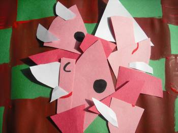 Kindergarten Holidays & Seasons Activities: Create a Picasso-Inspired Santa