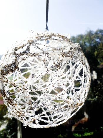 Second Grade Holidays & Seasons Activities: Make a Glittering String Ball