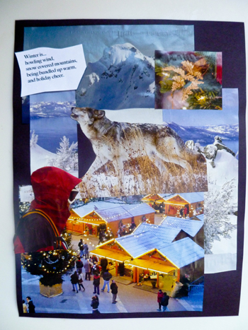 Fourth Grade Holidays & Seasons Activities: Winter Collage