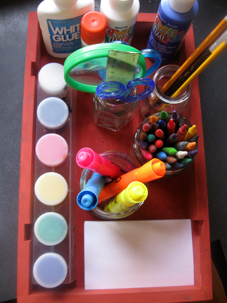 Kindergarten Arts & crafts Activities: Make an Art Supplies Caddy