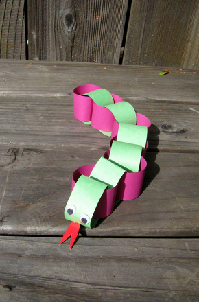 Kindergarten Arts & Crafts Activities: String a Slithery Snake!