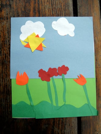 Preschool Science Activities: Spring Collage