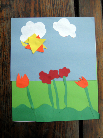 Preschool Holidays & Seasons Activities: Spring Collage