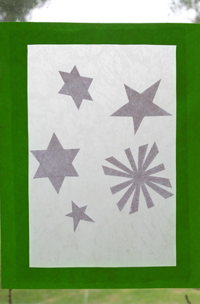 "Second Grade Holidays Activities: Make ""Stained Glass"" Holiday Stars"