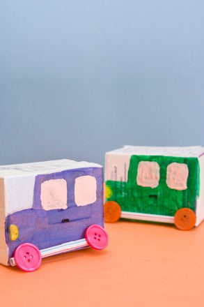 Kindergarten Arts & Crafts Activities: Make a Milk Box Derby
