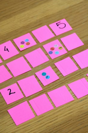 Kindergarten Math Activities: Play Number Memory Match Up!