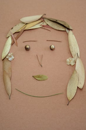 Second Grade Arts & crafts Activities: Make a Self Portrait from Nature