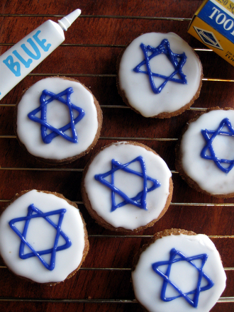 Second Grade Holidays Activities: Star of David Cookies
