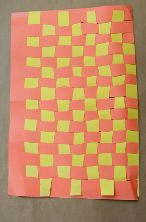 First Grade Holidays & Seasons Activities: Weave Paper Thanksgiving Placemats