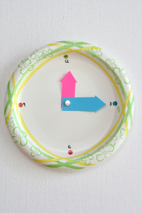 First Grade Math Activities: Make a Clock!