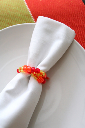 Kindergarten Holidays Activities: Craft Corn Harvest Napkin Rings