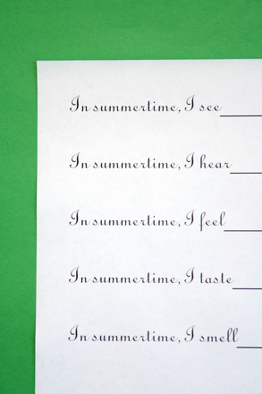 Kindergarten Reading & Writing Activities: Instant Poetry! A Writing Exercise