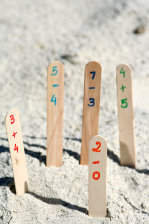 First Grade Math Activities: Sandbox Math Facts