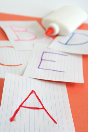 Preschool Reading & Writing Activities: Glue a Bumpy Alphabet!