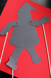 Fourth Grade Holidays & Seasons Activities: Santa Shadow Puppet