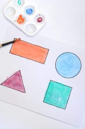Kindergarten Math Activities: Shape Art: Mix Art with Geometry!