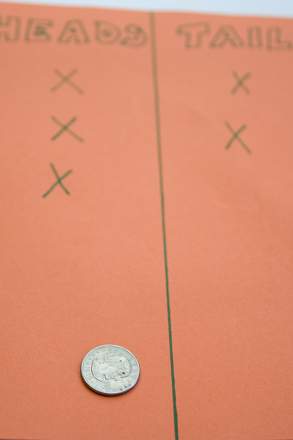 Kindergarten Math Activities: Flip a Coin