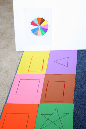 First Grade Math Activities: Play the Shape Twister Game