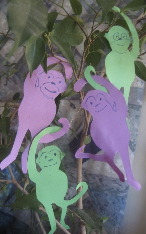 Fourth Grade Arts & crafts Activities: Monkey Paper Craft