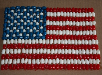 Kindergarten Holidays & Seasons Activities:  Mosaic American Flag