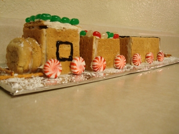 Third Grade Holidays Activities: Construct an Edible Holiday Train