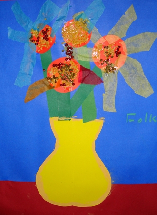 First Grade Arts & Crafts Activities: Van Gogh Sunflower Art Lesson