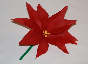 Fifth Grade Holidays Activities: Make a Santa's Helper Paper Poinsettia