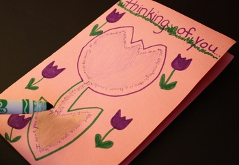 Fourth Grade Reading & Writing Activities: Make Shape Poem Greeting Cards