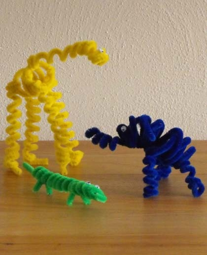 Second Grade Arts & crafts Activities: Pipe Cleaner Animals
