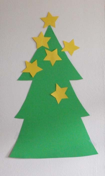 Preschool Holidays & Seasons Activities: Pin the Star on the Christmas Tree!