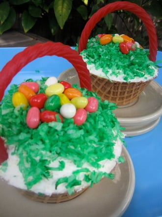 Easter basket cupcakes activity education third grade holidays seasons activities easter basket cupcakes negle