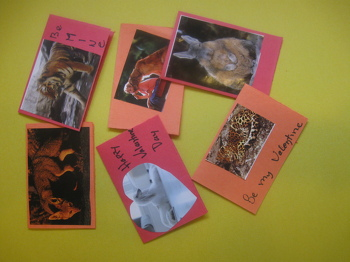 Second Grade Holidays Activities: Make Animal-Themed Valentines