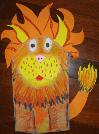 Kindergarten Arts & Crafts Activities: Craft Wild Animal Puppets