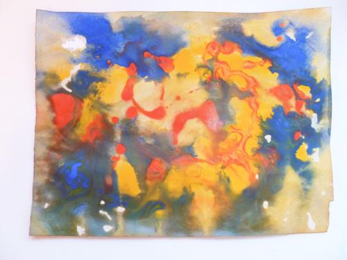 Middle School Arts & Crafts Activities: Poured Paint Art