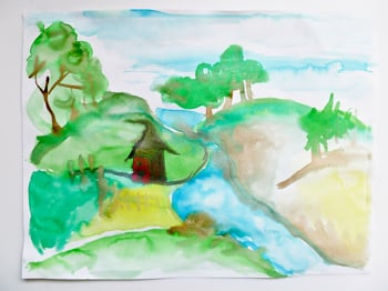 Fifth Grade Arts & Crafts Activities: Painting Watercolor Landscapes