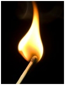 Find out which part of a flame burns wood the fastest and also if this is true for all types of flames such as candle-flame, burners, and lighters.