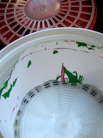 Preschool Arts & Crafts Activities: Salad Spinner Painting