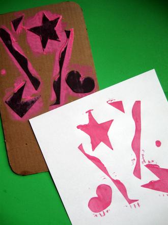 Preschool Arts & crafts Activities: Relief Prints