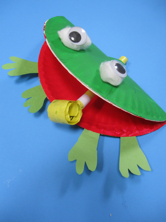 f is for frog craft activity