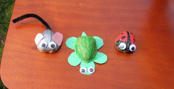 Third Grade Arts & crafts Activities: Walnut Shell Animals