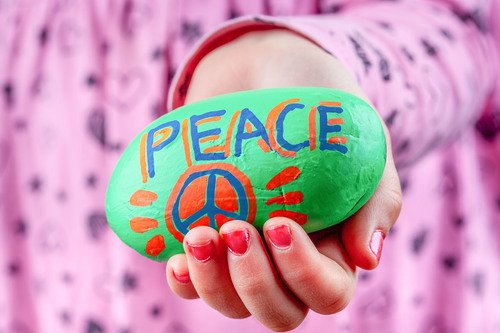 Fourth Grade Social emotional Activities: Make Peace Rocks